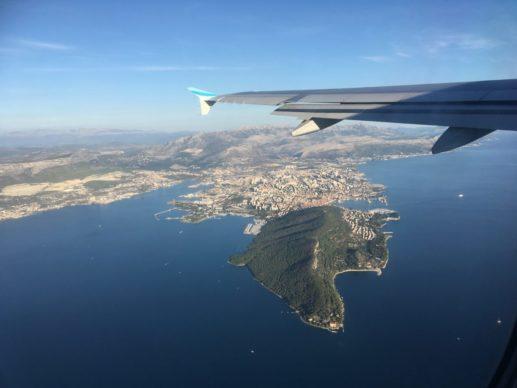 Aussicht auf Split während der Anreise